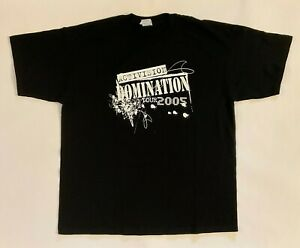 ACTIVISION Domination Tour 2005 Official Video Game Employee Promo T-Shirt XL