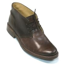 NEW MENS FRYE DARK BROWN LEATHER OLIVER CHUKKA BOOTS SIZE 7.5D