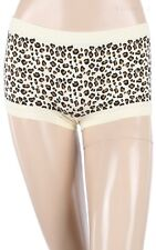Seamless Leopard Print Thigh Length Mini Panty Leggings Layering Shorts ONE SIZE