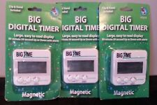 Big Time Digital Timer Magnetic Clip & Stand Included Lot of 3 NEW