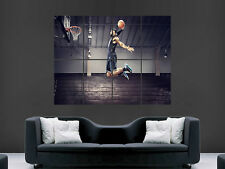 LEBRON JAMES SLAM DUNK BASKETBALL SPORT  WALL  LARGE IMAGE GIANT POSTER