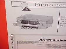 1967 FORD GALAXIE 500 500XL CONVERTIBLE CUSTOM LTD AM RADIO SERVICE SHOP MANUAL