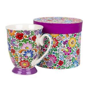 Mug - Folk Pattern - Multicolour  / Kubek FOLK  - Opole