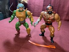 vintage he-man action figures lot Jitsu & Man at arms See Pictures