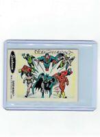 Sunbeam Bread DC Super Heroes Sticker Card #28 Dick Giordano Signed Super Heroes