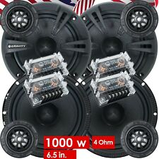 (2) Pairs Gravity 6.5-Inch 2-Way Car Audio Component Speaker System 6-1/2 Inches