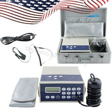 US Detox Machine Cell Ion Ionic Aqua Foot Bath SPA CHI Cleanse Machine Fir Belt