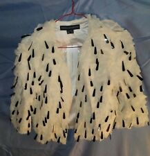 French Connection Rushes and Reeds Shrug Style 75AU4 Antique Lace Color sz 6 NWT