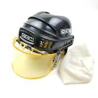 CCM HK2 Hockey Helmet Black Rare 1993 M-hk2u.01 7 1/8 - 7 5/8 Sport Maska Vtg