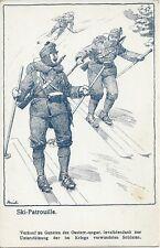 Feldpost 1. WK: Ski Patrouille ( Ski fahren ) ( Österr. Ungarischen Invaliden )