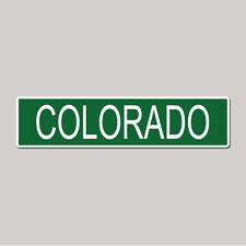"""COLORADO State Pride - 4"""" x 17"""" Awesome Aluminum Street Sign"""