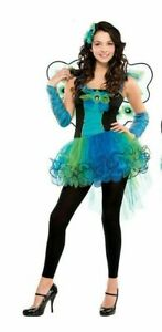 Teen Peacock Diva Costume Girls Animal Bird Book Week Day Fancy Dress Outfit NEW