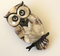 Unique Owl  brooch pin in Acrylic