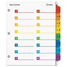 Cardinal OneStep Printable Table of Contents & Dividers - 60950