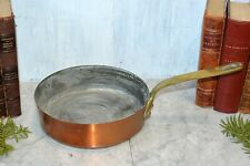 """Antique French Copper E. Dehillerin Large Sauce Pot Pan Stamped 8"""""""