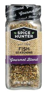 The Spice Hunter Fish Seasoning Salt Free Gourment Blend, Condiments 1.1 Oz