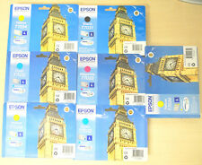 Lot 7 Cartouche Original EPSON Big Ben T7031 T7032 T7033 T7034 Genuine WorkForce
