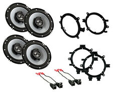 "NEW KENWOOD 6.5"" 2-WAY SPORT SERIES COAXIAL FRONT & REAR DOOR SPEAKERS W/ MOUNTS"