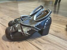 Brown Sweet Lolita Shoes Sz 24.5/8
