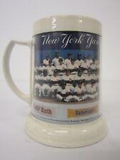 Vintage New York Yankees Plastic Team Photo Stein Mug Baby Ruth Reggie Jackson