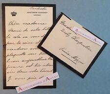 L.A.S Roi CONSTANTIN 1er de GRECE à Beety CHARPENTIER Athènes Lettre autographe