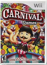 CARNIVAL GAMES - Nintendo Wii Game (2007) - Over 250 Prizes -Disc Mint Free Ship