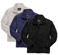Boxercraft Mens Fuzzy Fleece 1/4 Zip Pullover - Pick Color - Size L