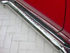 """Corvette Exhaust Shields (2), Corvette Script, 4"""" Tube Side, Stainless Steel"""