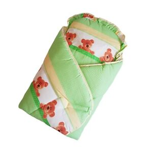 Baby Newborn Nursery Sleeping Feeding Swaddle Wrap Blanket Cover with Pillow