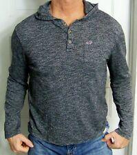mens - HOLLISTER shirt - M - CALIFORNIA - HENLEY - HOODIE - Pocket - Gray