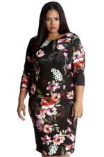 Knee Length 3/4 Sleeve Dresses Bodycon