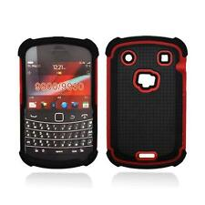 Black With Red Hybrid Hard Case Cover for Blackberry Bold Touch 9900 / 9930