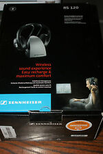 Sennheiser RS 120 Wireless Stereo Headphones with Charging Dock & Adapter in Box