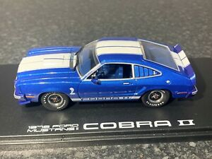 GREENLIGHT 1976 FORD MUSTANG II COBRA II 1:43 SCALE BLUE WHITE LIMITED EDITION
