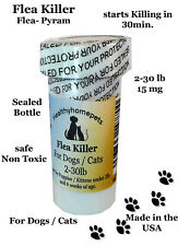 100 Capsules Flea Killer Dogs / Cats 2-30 lb 15Mg Control Vet recommended dosage