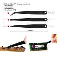 3-piece Set Anti-static Tweezers Computer Tablet Watch Phone Repair Tool