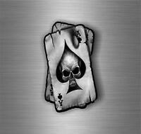 Adesivi adesivo sticker moto auto biker tuning skull teschio asso pic carta