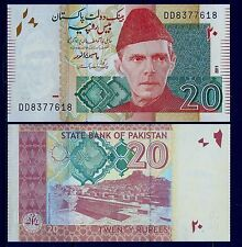 PAKISTAN, 20 RUPEE, NOTES,CURRENCY,PAPER MONEY,UNCIRCULATED