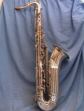 Saxophone vintage keilwerth Tenor le nouveau roi. Silver plate 1958
