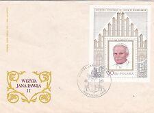 Poland 1979 Visit of Pope Paul II M/S FDC Unused VGC