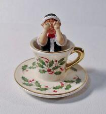 2003 Lenox Holiday Centerpiece Teacup Ride Elf Teacup Mint