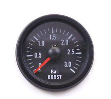 Boost Gauge 3 Bar Gasolina Diesel Turbo Borde Negro/Rojo Cara mecánico 52 mm Manguera