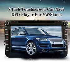 """8"""" 2DIN WCE Reproductor Coche Radio DVD MP4 Player GPS Navigación Para VW Skoda"""