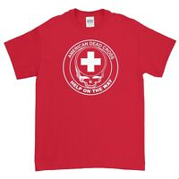 Grateful Dead _Jerry Garcia _Help on the Way! 100% Cotton Red T-shirt