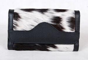 100% Real Cowhide Wallet Real Leather Hair ON Western Ladies Wallets  SA-7103