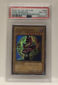 Yu-Gi-Oh 2002 Ultra Rare Dark Magician LOB-005 PSA 8 NM/MINT