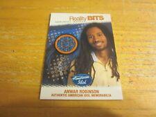 Anwar Robinson 2005 American Idol Season Four Reality Bits #RBAR Relic Card