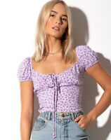 MAZU TOP IN DITSY ROSE LILAC By Motel Size M