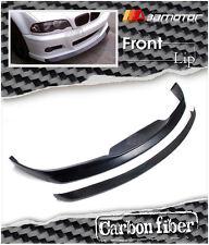 Strassentech Style Carbon Fiber Front Lip Spoiler 2 PCS  for BMW E46 M3 Bumper