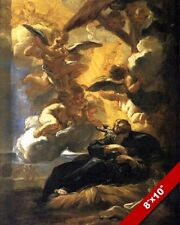 VISION OF ST FRANCIS XAVIER JESUIT MISSIONARY PAINTING ART REAL CANVAS PRINT